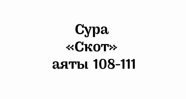 Сура «Скот»: аяты 108-111