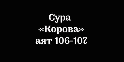 Сура «Корова»: аяты 106-107
