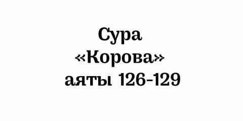 Сура «Корова»: аяты 126-129