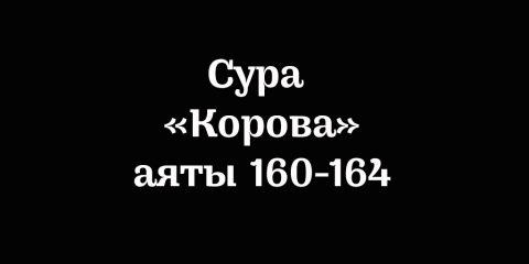 Сура «Корова»: аяты 160-164