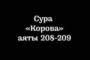 Сура «Корова»: аяты 208-209
